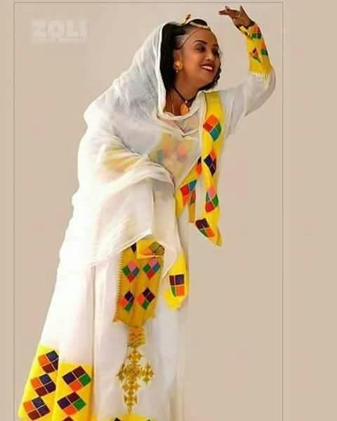 Habesha dress picture wedding dress for Ethiopian wedding dress designer